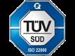 Certyfikat TUV ISO 22000